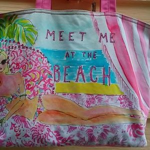 Lilly Pultizer 'Meet Me At The Beach' Bag